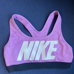 NIKE Dri Fit Sports Bra Womens Size XS razor back